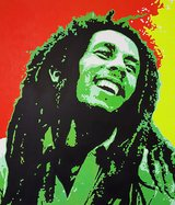 Oil Painting Bob Marley (Big) in Vicenza, Italy