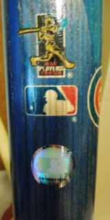 "Collectors Chicago Cubs ""Ace of Cubs"" Baseball Bat 2003 in Joliet, Illinois"