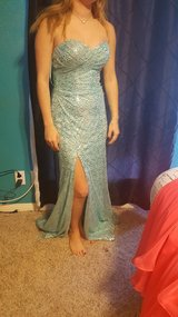 Blue prom dress in Conroe, Texas