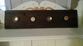 Vintage Barnwood Coat/Apron Rack in Bolingbrook, Illinois