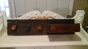 Vintage Barnwood Coat/Front Entry Door Rack W/Cigar Box in Glendale Heights, Illinois