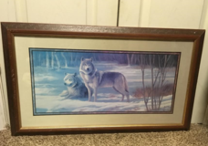 Wolf picture in frame in Fort Benning, Georgia
