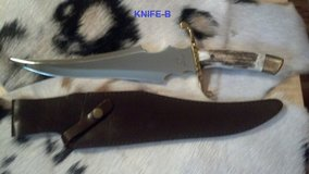 White Tail Cutlery Deer Stag Handle Fixed Blade Knife (knife B ) in Ottumwa, Iowa