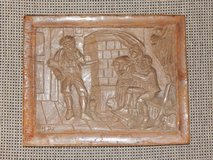 Carved Wood Tavern Scene in Stuttgart, GE
