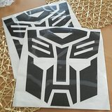Two Transformers Autobot Decals in Nellis AFB, Nevada