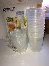 Avent storage cups in Ramstein, Germany