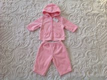 NEW WITH TAG VELOUR CHILDREN'S PLACE BABY GIRL DRESSY TOP AND PANTS SET, SIZE 3-6 MONTHS in Palatine, Illinois