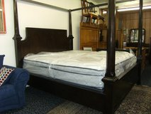 High Post King Bed w/mattress in Camp Lejeune, North Carolina