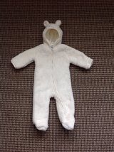 New with Tag Baby Boy/Girl Milk Bear Hooded Faux-Fur Bunting/Snowsuit, size 6-9 months in Elgin, Illinois