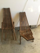Hand made wooden lounger chairs in Temecula, California