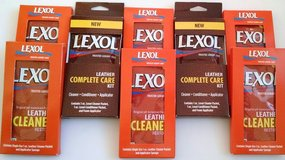8 Lexol Leather Cleaner + Conditioner complete care 1oz single use sponge cleaning kits in Naperville, Illinois