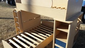 Natural Tone / Captain Blue / 4 In 1 Bunk Bed Combo Set in Fort Campbell, Kentucky