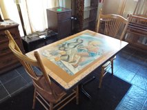 Table with Two Antique Chairs*Art Work*Beautiful in Rolla, Missouri