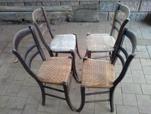 old german chairs with screen seating antique in Ramstein, Germany