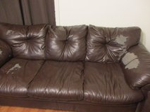 FREE Faux Leather Couch in Jacksonville, Alabama