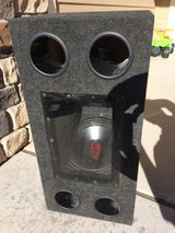 """2 Cerwin Vega 12"""" subwoofers in box with Pioneer amp in Fort Carson, Colorado"""