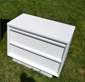 Nightstand . Nice 2 drawer / white in Morris, Illinois