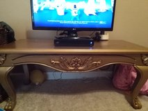 Very nice gold coffee table everything must go in Fort Campbell, Kentucky