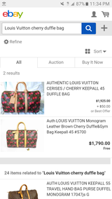 Louis Vuitton cherry duffle plus purse in Phoenix, Arizona