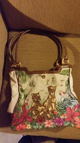 Woman's purse  leopard w/ floral and desert design in Aurora, Illinois