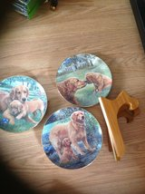 Golden retriever collectible plates with stands in Fairfield, California