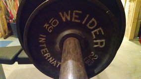AMF weight bench & bar & Weider weights in Byron, Georgia