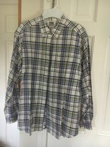 Women's Large plaid button down shirt NEW in Wheaton, Illinois