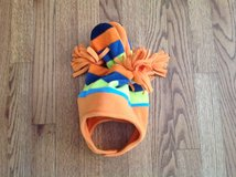 New with Tag Jumping Beans Baby Boy 6-18 months Orange & Blue Fleece Hat & Mittens Set in Schaumburg, Illinois