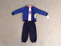 Just One You 18 Months 3-Piece Striped Penguin Fleece Set Baby Boy Clothes in Elgin, Illinois