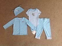 NEW WITH TAG DRESSY 4-PIECE SMALL WONDERS COTTON OUTFIT, SIZE 6-9 MONTHS in Schaumburg, Illinois