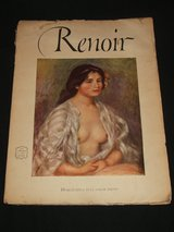 Renoir Abrams Art Book 15 Full Color Prints 1952 in Aurora, Illinois