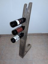 Antique wine bottle holder oak wood 4 bottles in Baumholder, GE