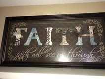 Faith picture on frame in Conroe, Texas