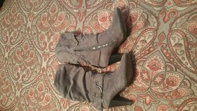 Size 7 grey suede boots in Alamogordo, New Mexico