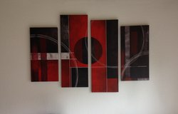 Abstract canvas wall art in Ramstein, Germany