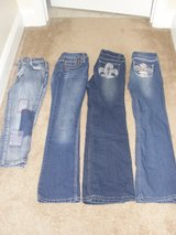 GIRLS SIZE 10/12 JEANS LOT OF 4 in Camp Lejeune, North Carolina