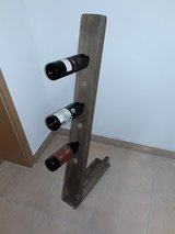 Antique wine bottle holder oak wood 6 bottles in Baumholder, GE
