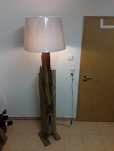 Antique handmade floor lamp oak wood in Ramstein, Germany