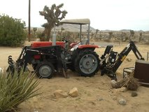 06 Shibaura diesel tractor w/backhoe & loader $8,500 or RV or labor trade in Yucca Valley, California