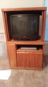Large box tv with entertainment center & dvd player in Fort Lee, Virginia
