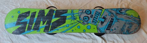 SIMS 140 Centimeter Snowboard with Metal Ride XL (men's USA size 11-15) Bindings in Lockport, Illinois