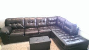 Leather Sectional Couch, Great Condition Purchased 5/25/15 in Camp Lejeune, North Carolina