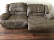 Microfiber reclineable couch in San Clemente, California