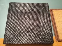 Wicker plate table chargers in Chicago, Illinois