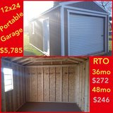 12x24 Portable Garage in Fort Polk, Louisiana