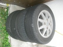 4 new condition tires with aluminium rims in Okinawa, Japan