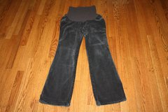 Motherhood Maternity Dark Grey Cords Pull on Pants, size Large in Schaumburg, Illinois