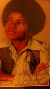 Autograph picture of Michael Jackson as child in bookoo, US