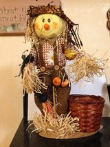 Fall Scarecrow w/pot for plants attached in Aurora, Illinois