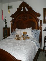 Victorian Renaissance Revival Antique Walnut Bed in Elgin, Illinois